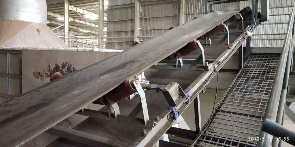 Conveyor belt weighing system