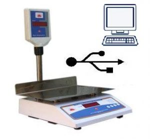 Weighing scale with USB connectivity